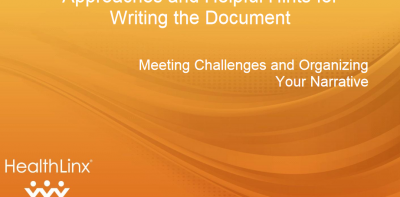Approaches and Helpful Hints for Writing the Document
