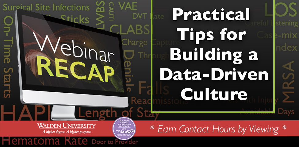 Tips for a Data-Driven Culture webinar